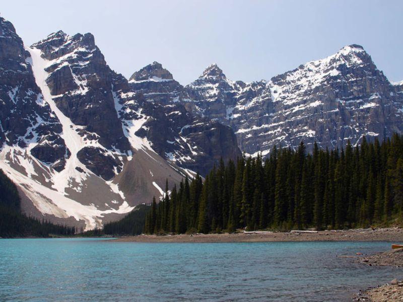 Le parc national Banff, dans la région des Rocheuses de l'Alberta